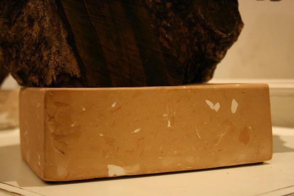 claywood arancio particolare base in argilla sbagliata