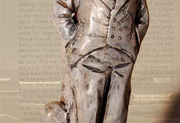 Figura in terracotta, tecnica di colorazione mista - misure 20 cm
