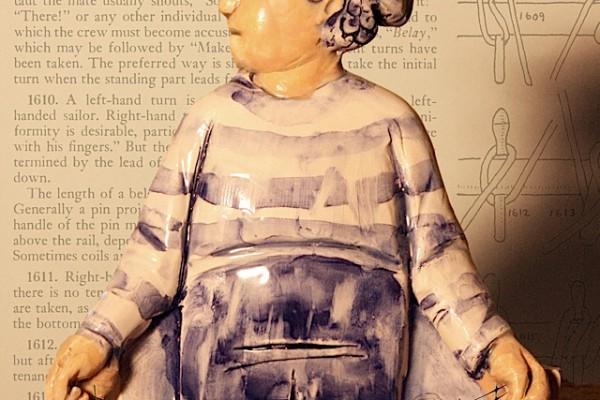 Figura in ceramica - altezza 15 cm