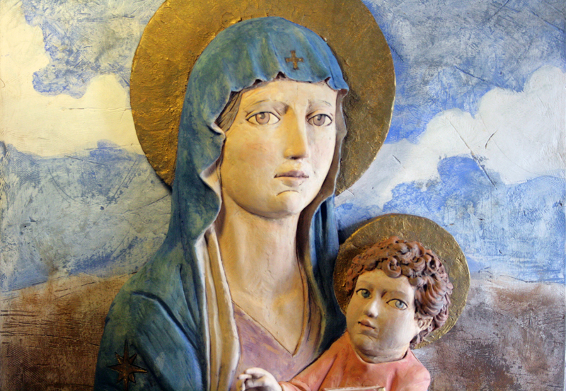 Un bassorilievo di Criscione donato alla chiesa di Sant'Antonio Abate